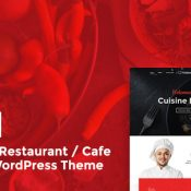 Cuisine: The Ultimate Restaurant/Cafe Responsive WordPress Theme