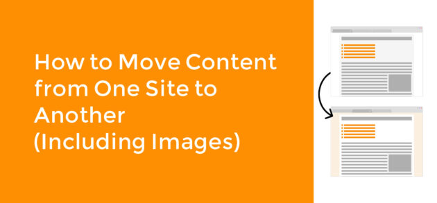 Move Content From One Site to Another