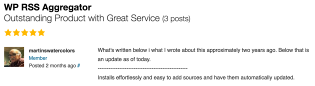 WP RSS Aggregator » Outstanding Product with Great Service