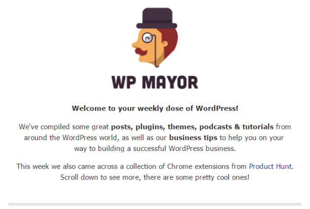 Your Weekly Dose of WordPress