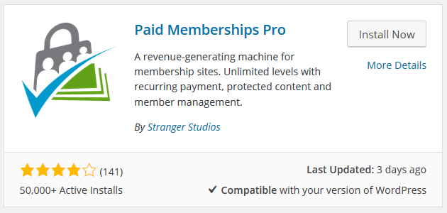Paid Memberships Pro WordPress Plugin - Installation and Activation