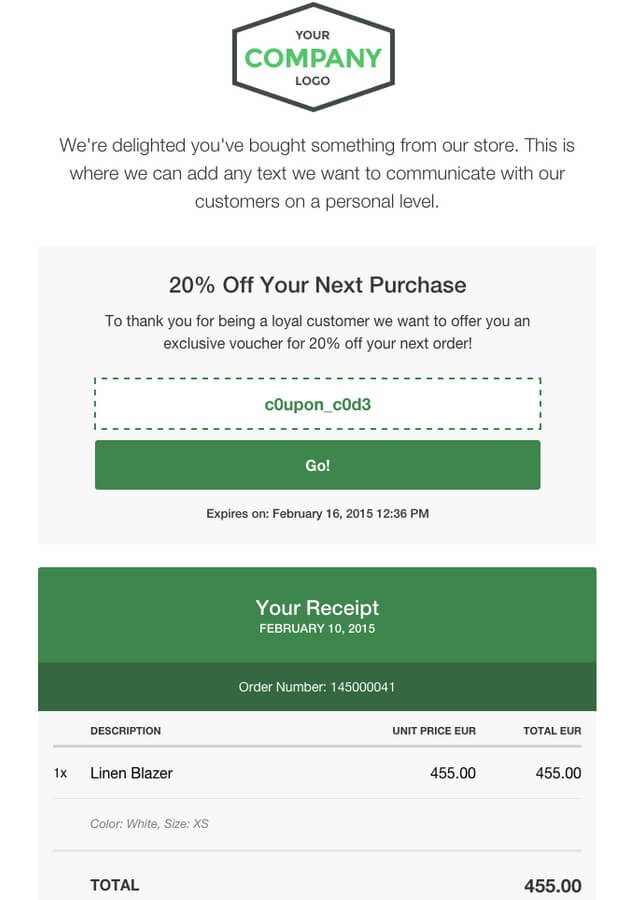Receiptful - Personalized Email Receipts