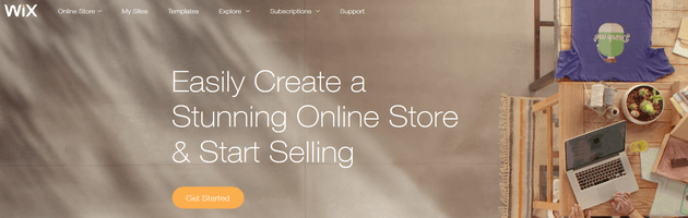 Wix - eCommerce Shop Solution