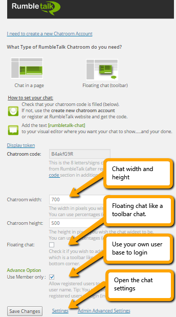 members integration to your chatroom