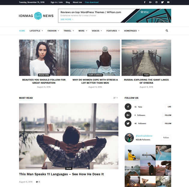 IonMag free News WordPress Theme - The only theme you\'ll ever need!