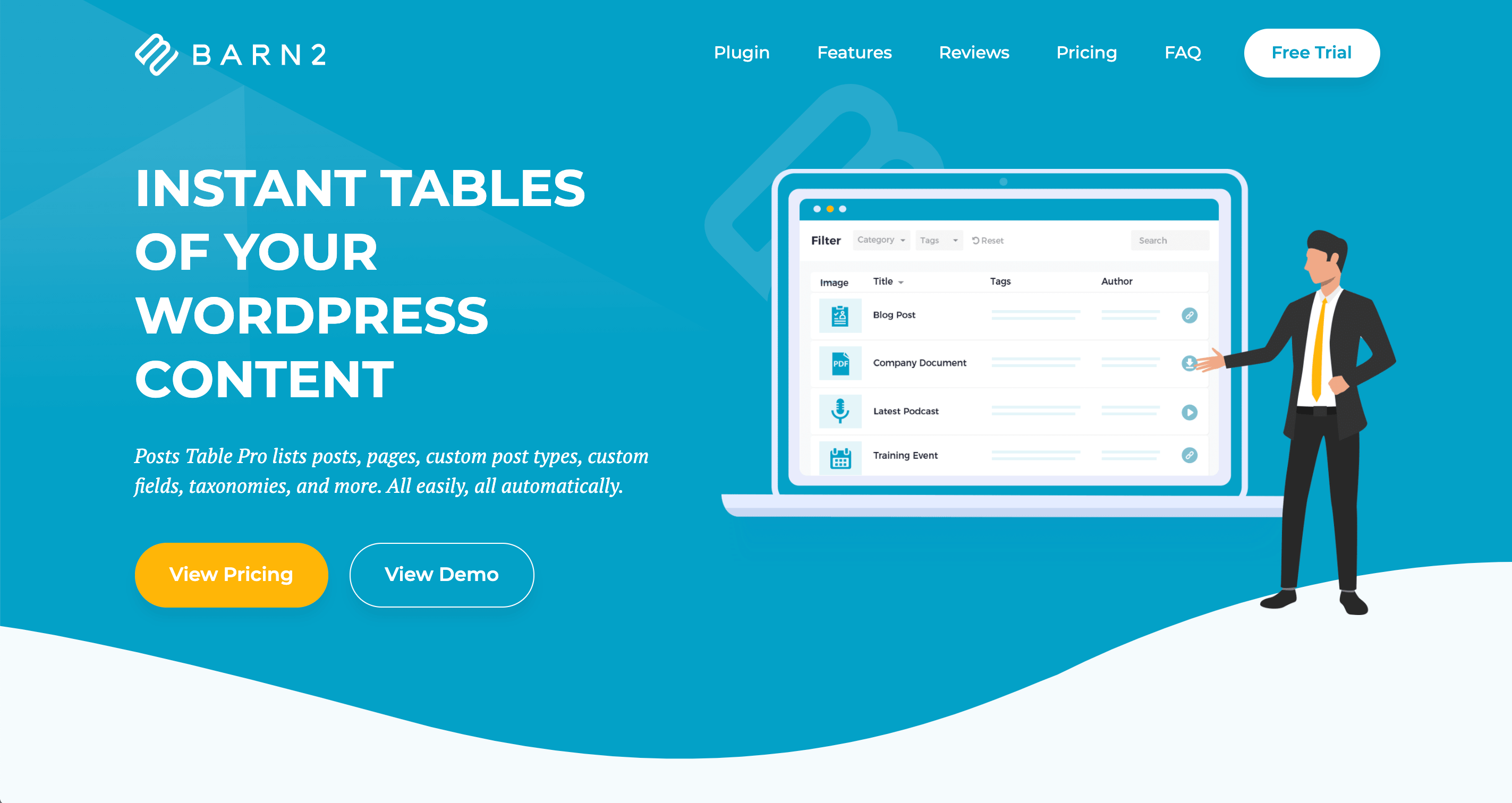 Posts Table Pro by Barn2