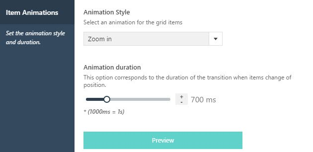 Select an animation effect