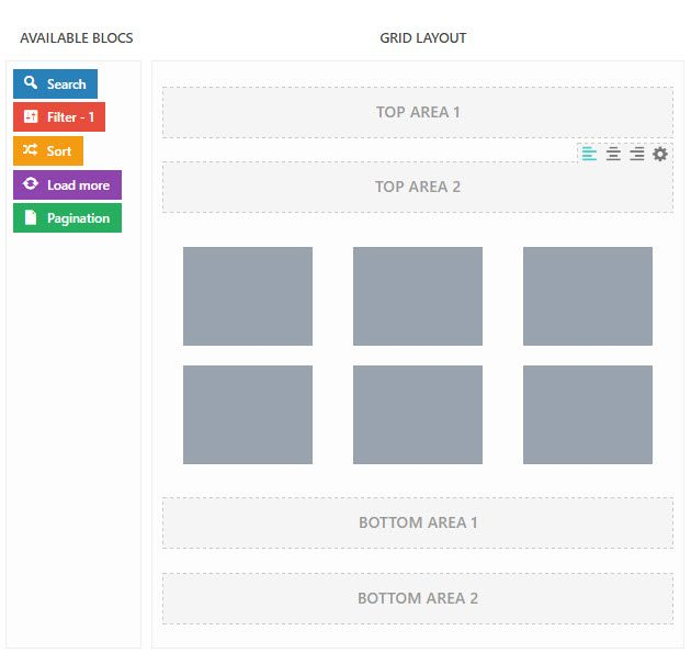 Customize the Grid content
