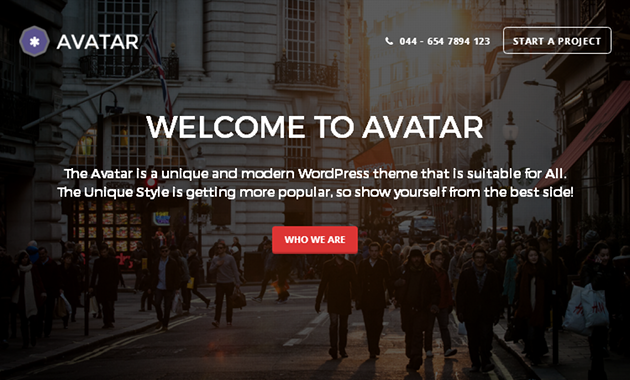 Avatar WordPress Theme