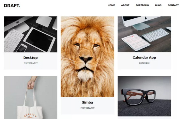 Draft Portfolio WordPress Theme