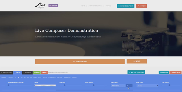 Live Composer WordPress Plugin