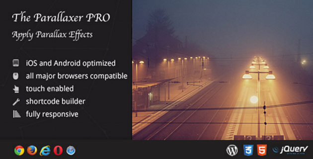The Parallaxer Pro WordPress Plugin