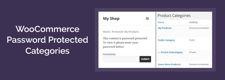 WooCommerce Password Protected Categories