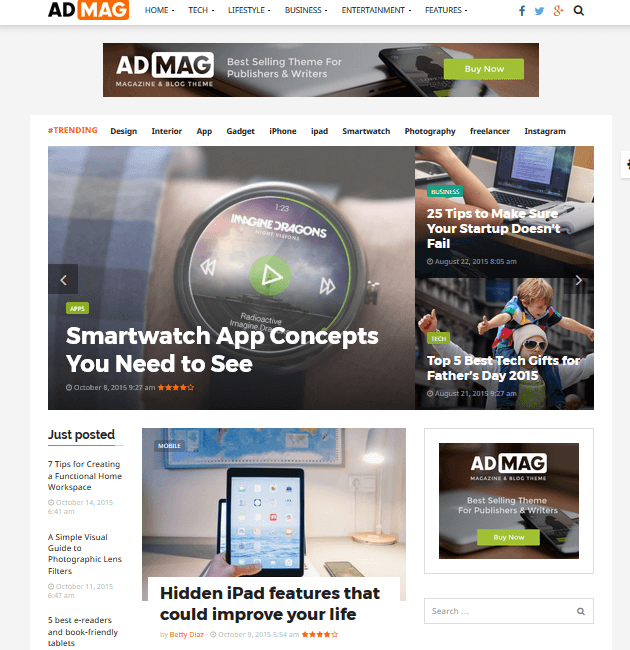 ADMAG - Ad-Space WordPress Themes