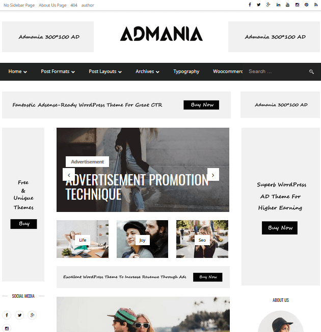 Admania - Ad-Space WordPress Themes
