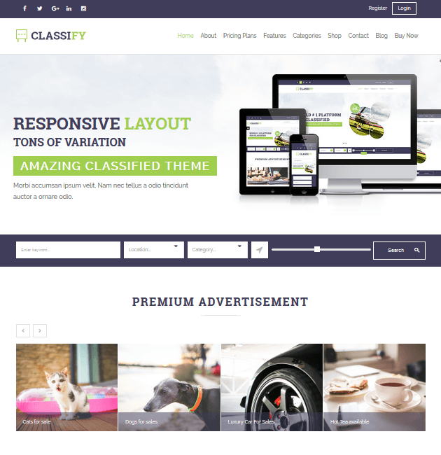 Classify- Ad-Space WordPress Themes