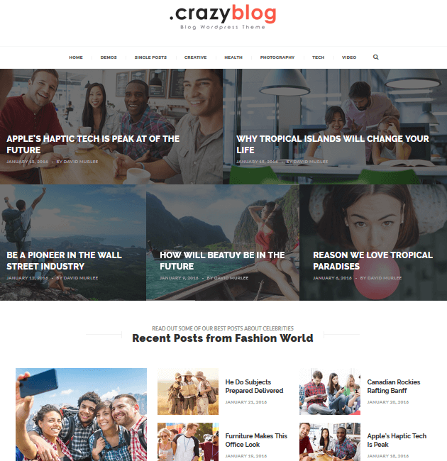 CrazyBlog - Ad-Space WordPress Themes