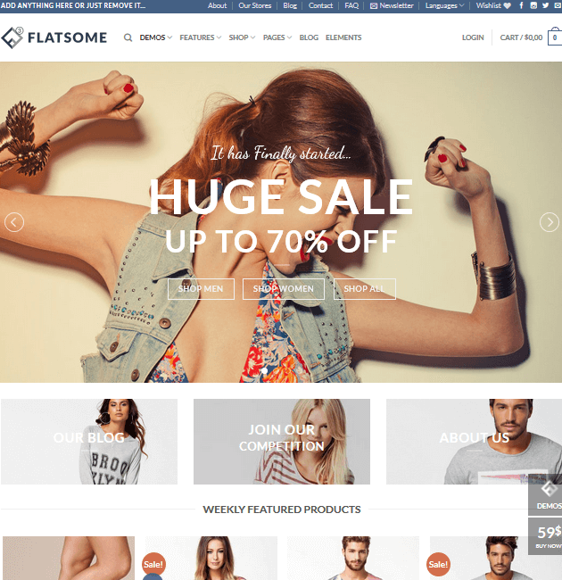Flatsome - eCommerce WordPress Themes