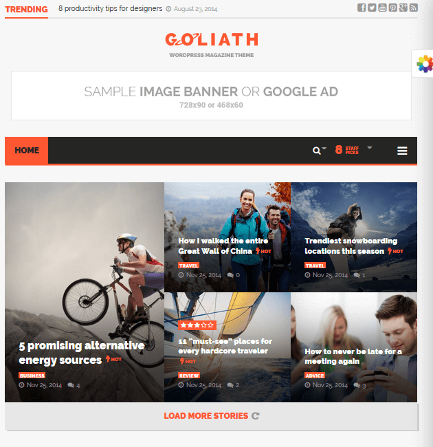 Goliath - Ad-Space WordPress Themes