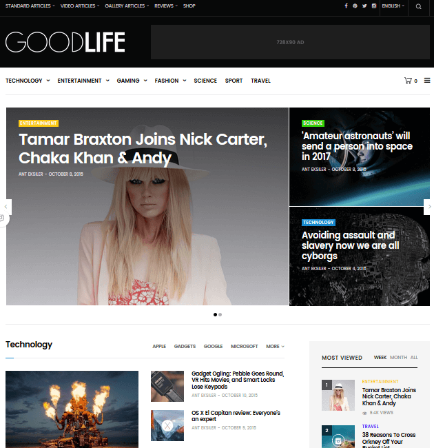 GoodLife - Ad-Space WordPress Themes