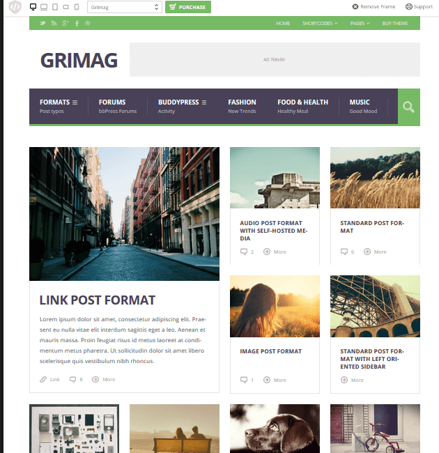 Grimag - Ad-Space WordPress Themes