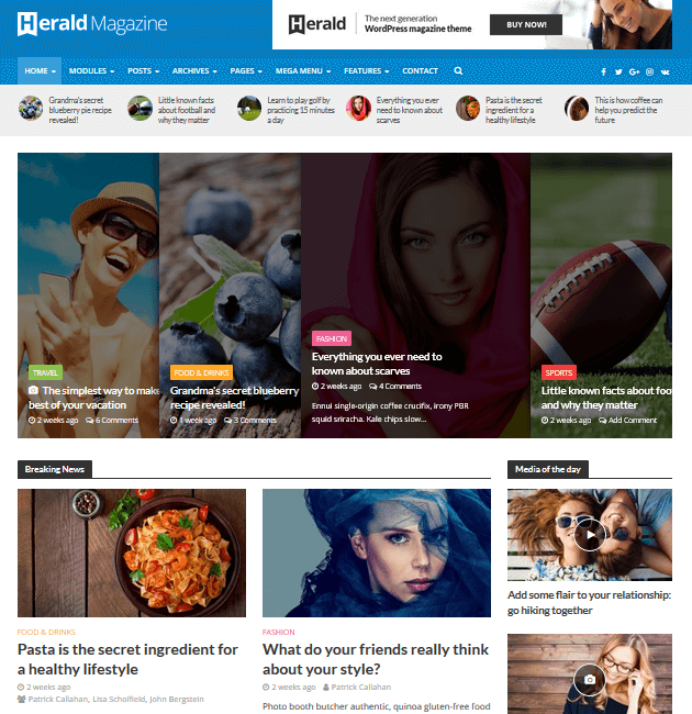 Herald - Ad-Space WordPress Themes