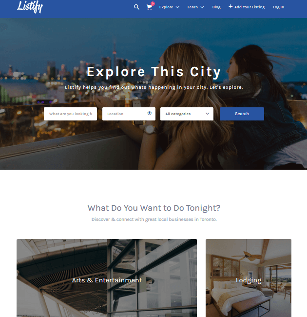 Listify - Ad-Space WordPress Themes