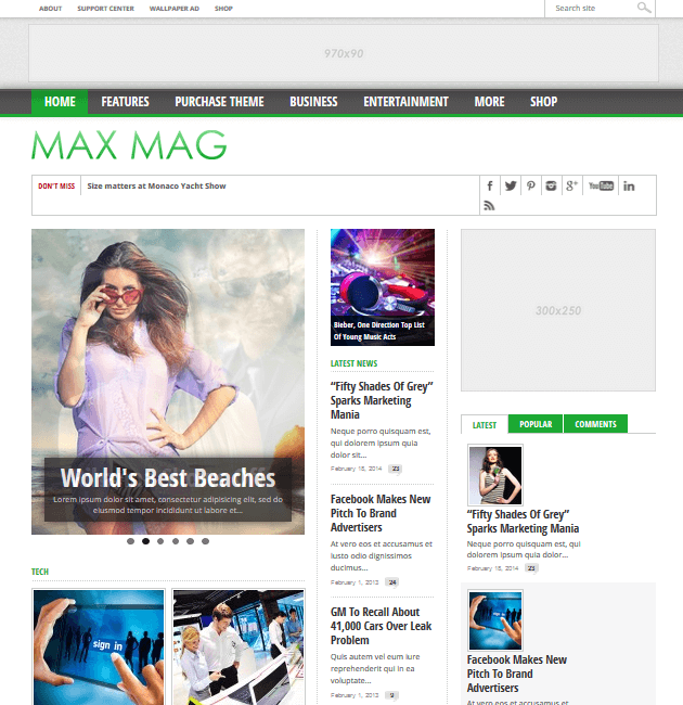 Max Mag - Ad-Space WordPress Themes