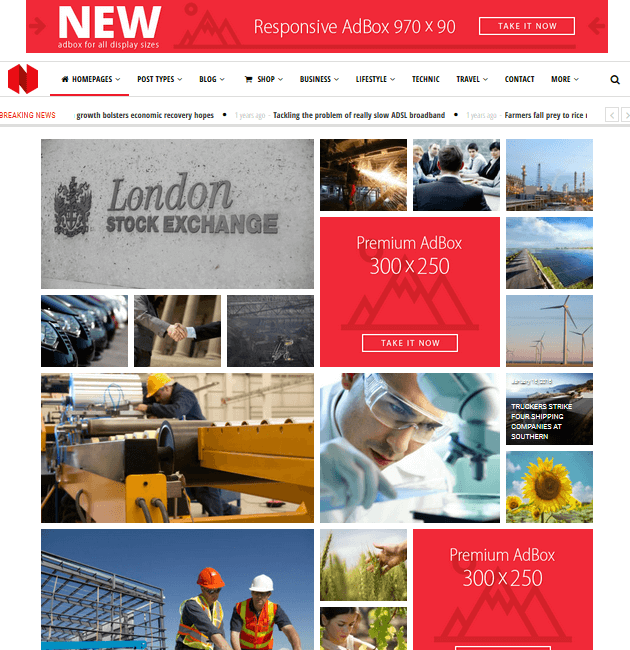 Newspeak - Ad-Space WordPress Themes