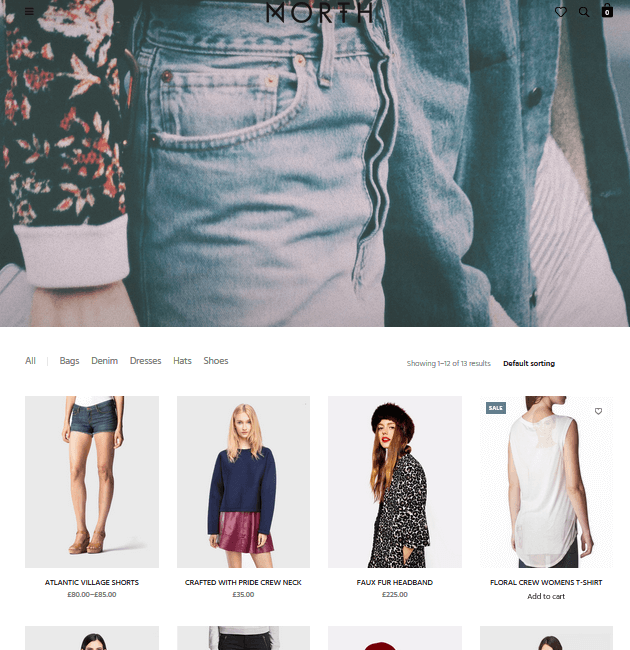 North - eCommerce WordPress Themes