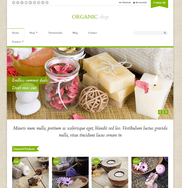 Organic Shop - eCommerce WordPress Themes