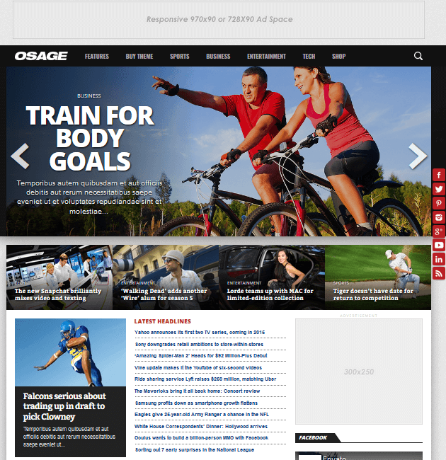 Osage - Ad-Space WordPress Themes