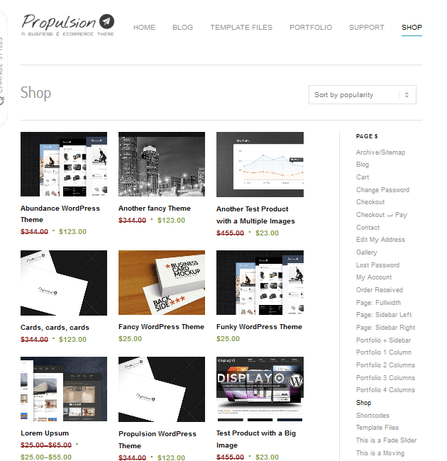 Propulsion - eCommerce WordPress Themes