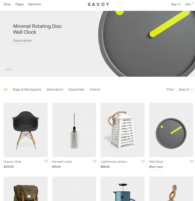 Savoy - eCommerce WordPress Themes