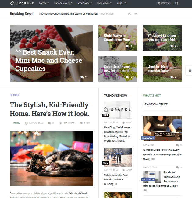 Sparkle - Ad-Space WordPress Themes