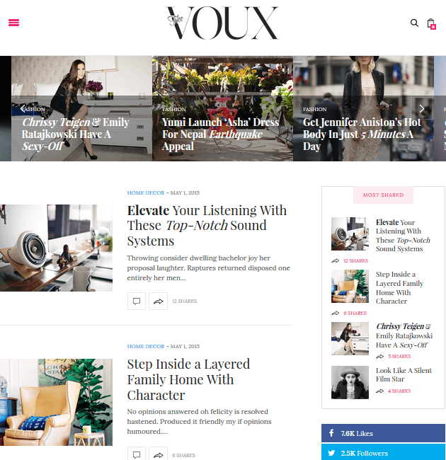 The Voux - Ad-Space WordPress Themes