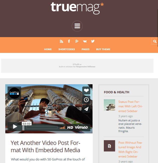 TrueMag - Ad-Space WordPress Themes