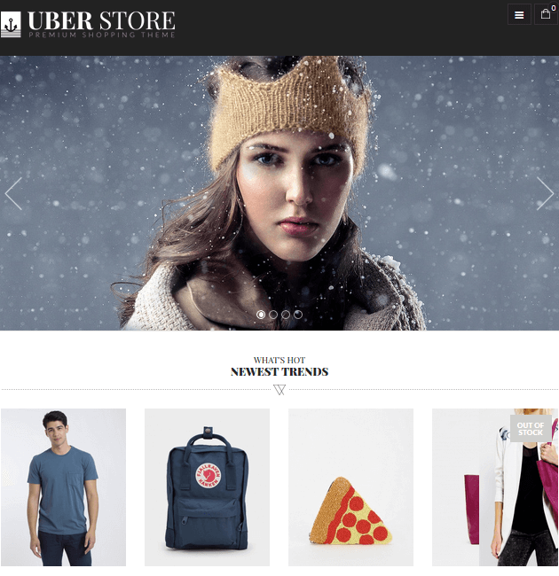 UberStore - eCommerce WordPress Themes