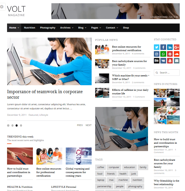 Volt - Ad-Space WordPress Themes