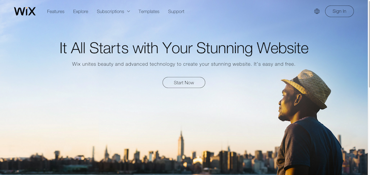 Wix -- Integrated Website Builder