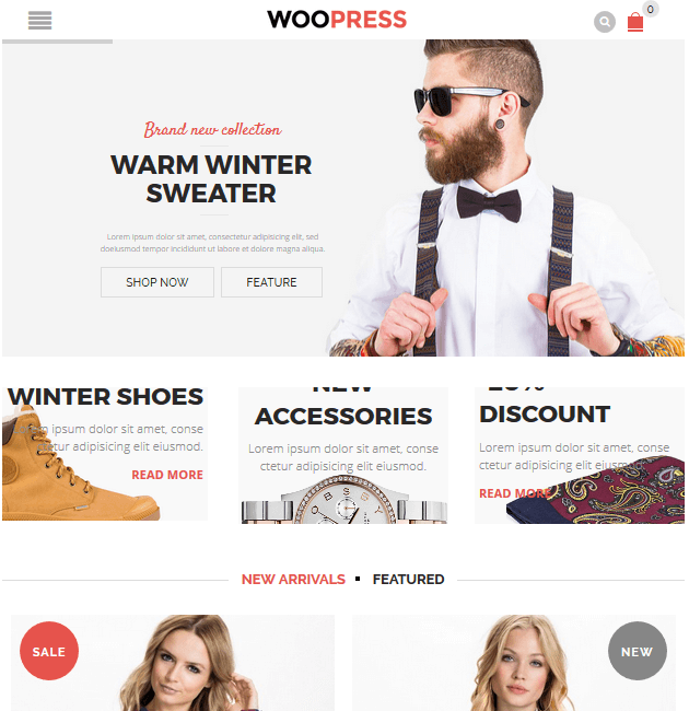 WooPress - eCommerce WordPress Themes