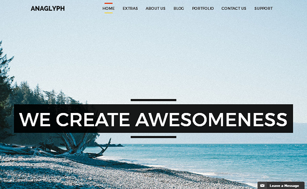 ANANAGLYPH WordPress Theme