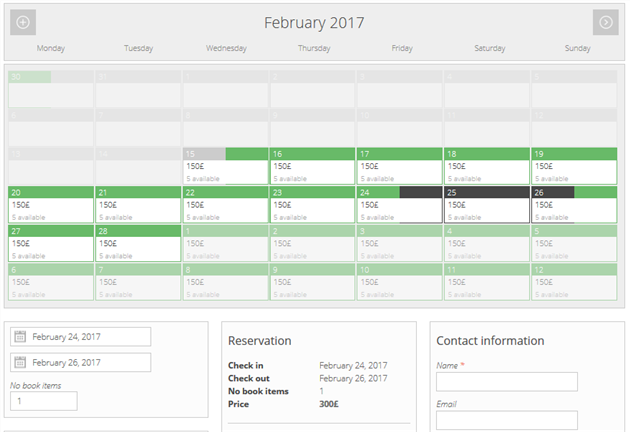 wordpress hotel booking calendars