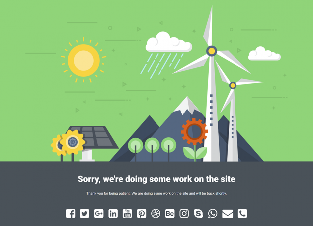 Windmill theme for Under Construction Page plugin