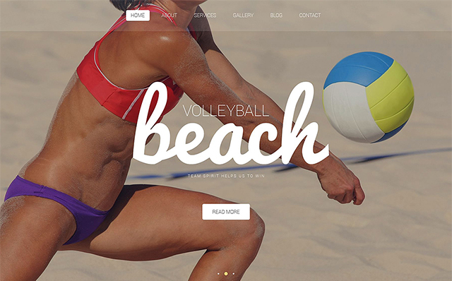 Volleyball WordPress Theme