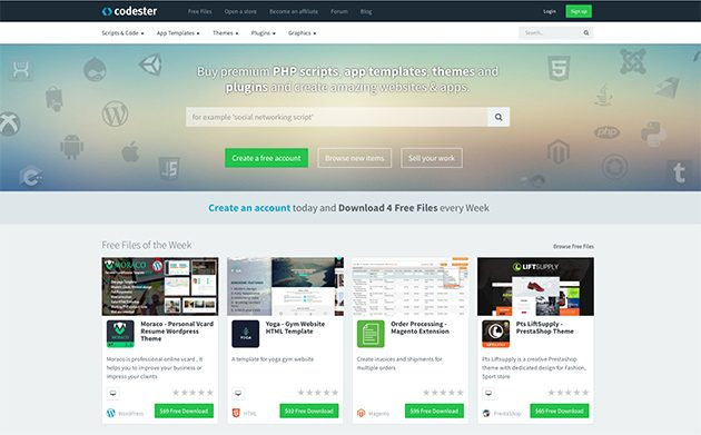 Codester - a Fast Growing Marketplace For WordPress Themes