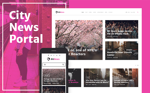 - Blog Magazine & News Portal WordPress Theme