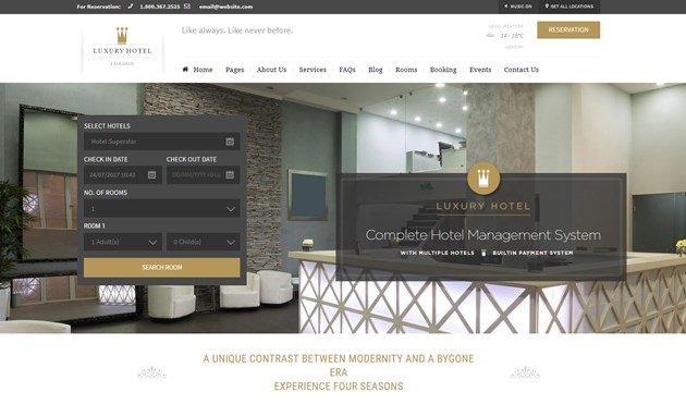 10 Best WordPress Hotel Booking Themes with a Property