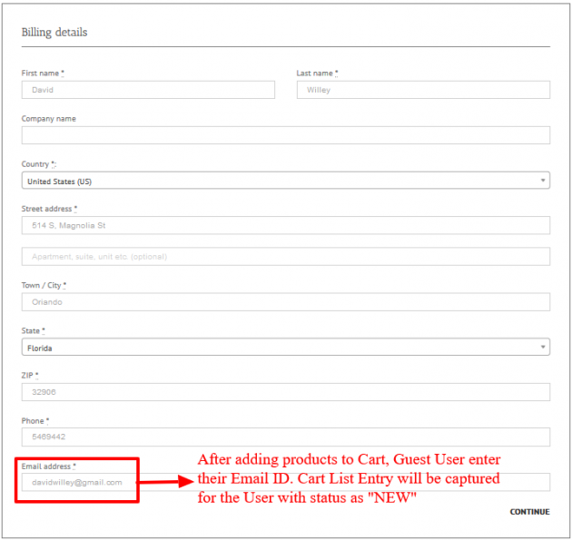WooCommerce Recover Abandoned Cart - Guest Cart Capturing