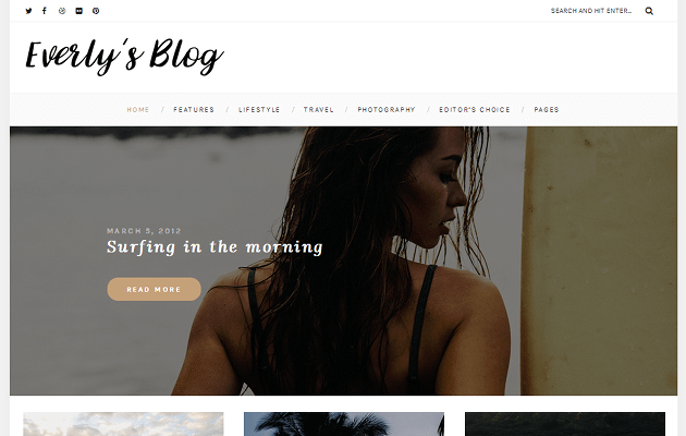 Everly WordPress Theme